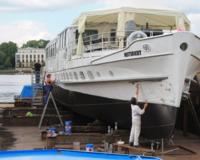 professionelles Tonstudio in historischer Motoryacht(Video)(TB) 1