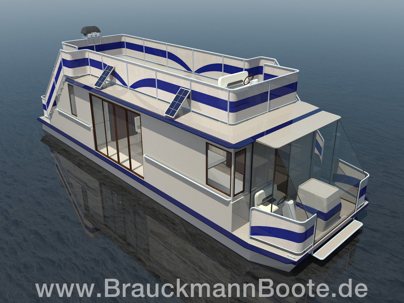 aquaner 1200 hausboot brauckmannboote gmbh. Black Bedroom Furniture Sets. Home Design Ideas